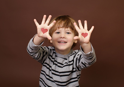 Boy with Love Hearts